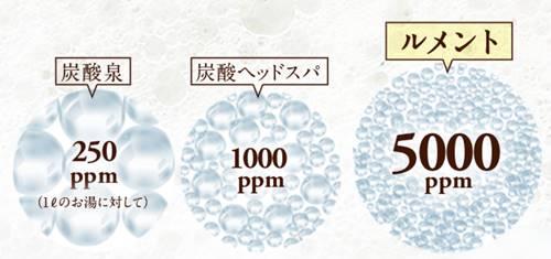 ルメントシャンプーの炭酸ガスの濃度の画像